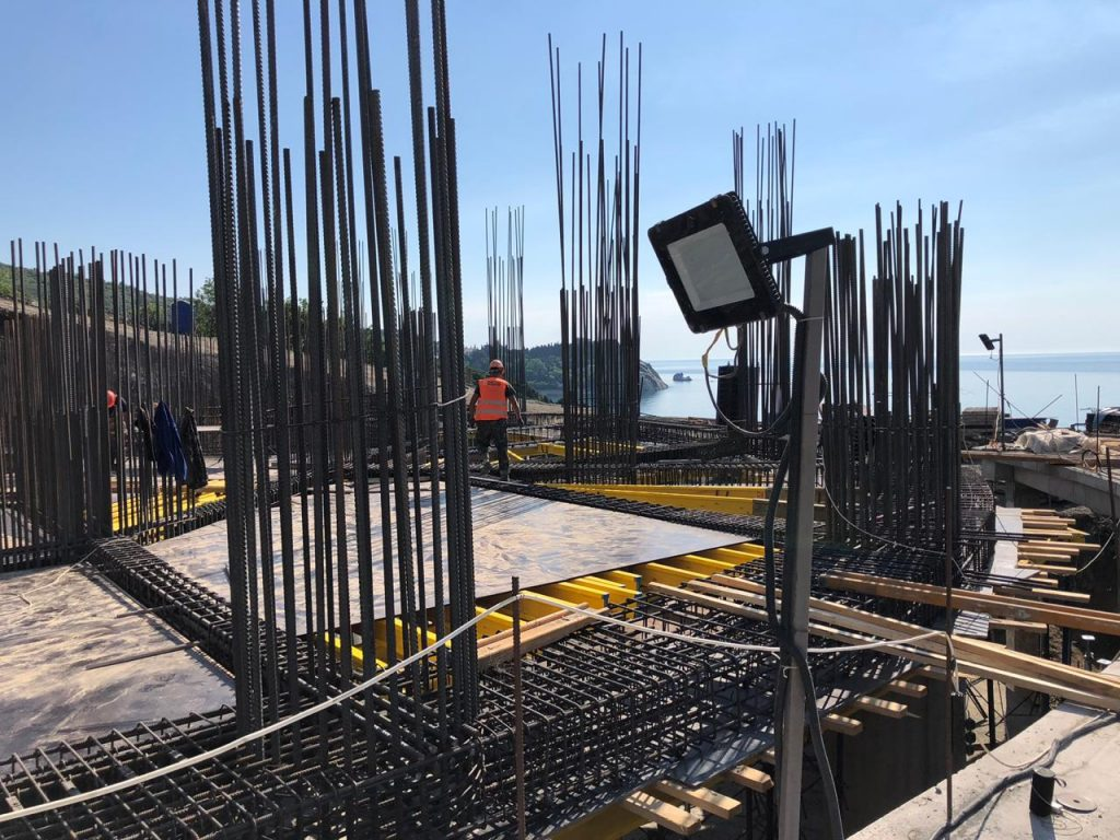 Ход строительства комплекса